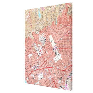 Vintage Map of Beverly Hills California (1950) 3 Canvas Print
