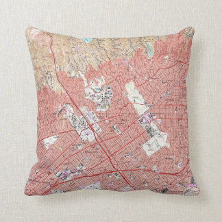 Vintage Map of Beverly Hills California (1950) Cushion