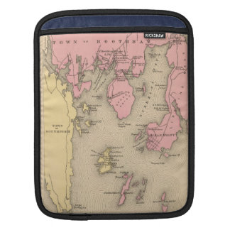 Vintage Map of Boothbay Maine (1894) iPad Sleeve