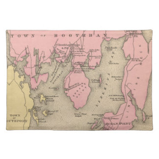 Vintage Map of Boothbay Maine (1894) Placemat
