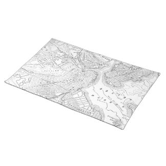 Vintage Map of Boston (1878) Placemat