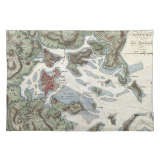 Vintage Map of Boston Harbor (1807) Placemat