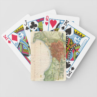 Vintage Map of Burlington Vermont (1872) Bicycle Playing Cards