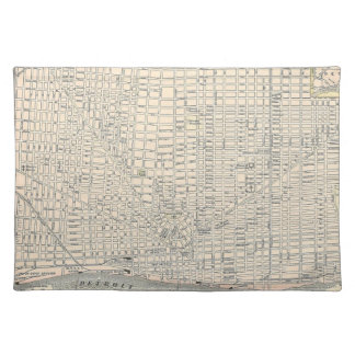 Vintage Map of Detroit (1895) Placemat