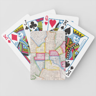 Vintage Map of Downtown Baltimore (1860) Bicycle Playing Cards