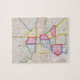 Vintage Map of Downtown Baltimore (1860) Jigsaw Puzzle