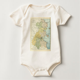 Vintage Map of Dublin and Surrounding Areas (1900) Baby Bodysuit