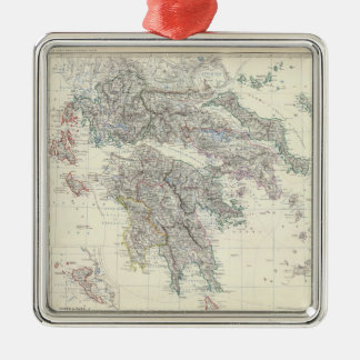Vintage Map of Greece (1861) Christmas Ornament