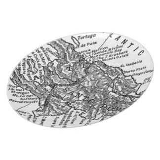 Vintage Map of Haiti (1911) Plate