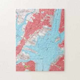 Vintage Map of Jersey City NJ (1955) 2 Jigsaw Puzzle