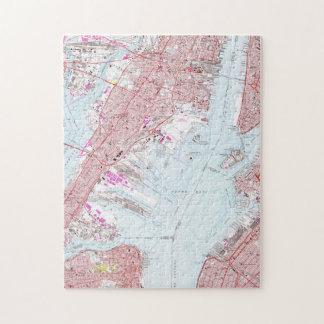 Vintage Map of Jersey City NJ (1967) Jigsaw Puzzle