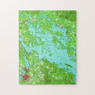 Vintage Map of Lake Winnipesaukee (1956) Jigsaw Puzzle