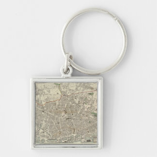 Vintage Map of Liverpool England (1836) Key Ring