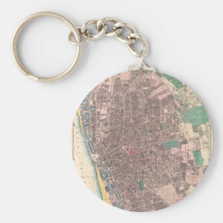 Vintage Map of Liverpool England (1890) Key Ring