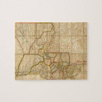 Vintage Map of Louisiana (1816) Jigsaw Puzzle