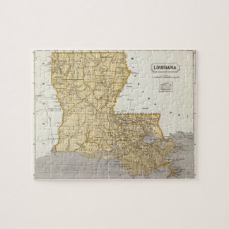 Vintage Map of Louisiana (1845) Jigsaw Puzzle