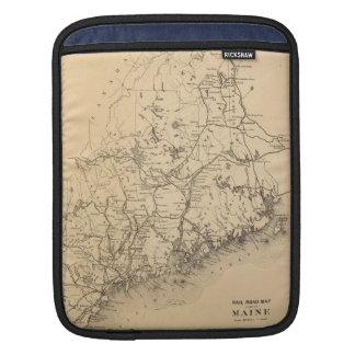 Vintage Map of Maine (1894) iPad Sleeve