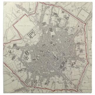 Vintage Map of Milan Italy (1832) Napkin