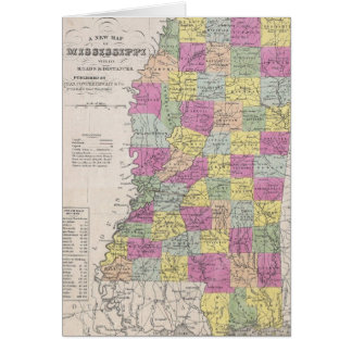 Vintage Map of Mississippi (1853) Card