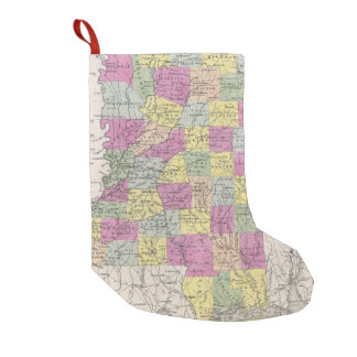 Vintage Map of Mississippi (1853) Small Christmas Stocking