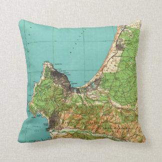 Vintage Map of Monterey California (1941) Cushion