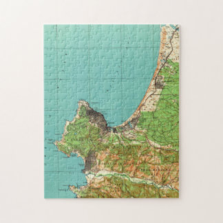 Vintage Map of Monterey California (1941) Jigsaw Puzzle