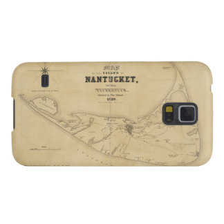 Vintage Map of Nantucket (1838) Galaxy S5 Cover