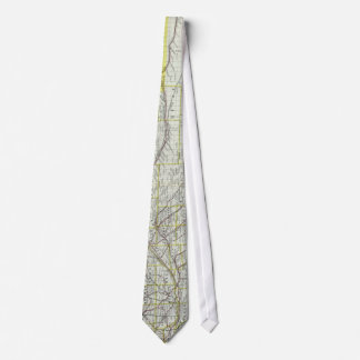 Vintage Map of Nebraska (1889) Tie