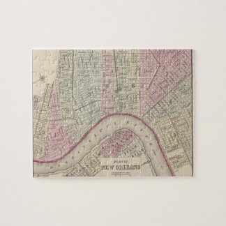 Vintage Map of New Orleans (1880) Jigsaw Puzzle