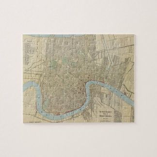 Vintage Map of New Orleans (1919) Jigsaw Puzzle