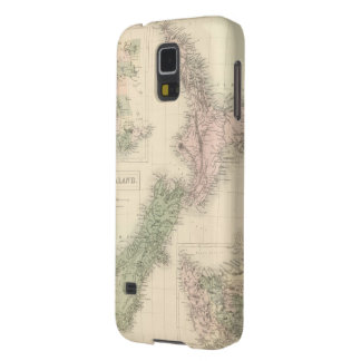 Vintage Map of New Zealand (1854) Cases For Galaxy S5