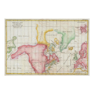 Vintage Map of North America (1772) Poster