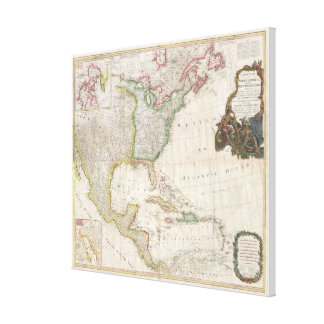 Vintage Map of North America (1794) Canvas Print