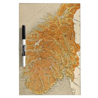 Vintage Map of Norway (1914) Dry Erase Board