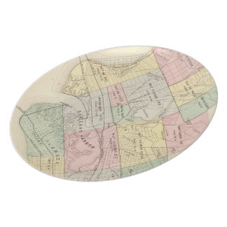 Vintage Map of Oakland California (1878) Plate