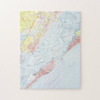 Vintage Map of Ocean City NJ (1952) Jigsaw Puzzle