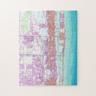 Vintage Map of Palm Beach Florida (1946) Jigsaw Puzzle