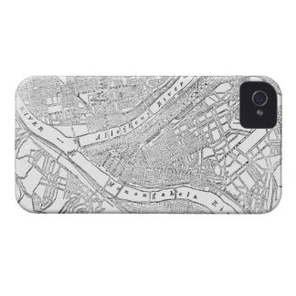 Vintage Map of Pittsburgh (1885) iPhone 4 Case