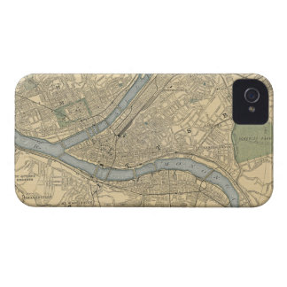 Vintage Map of Pittsburgh PA (1891) iPhone 4 Case-Mate Cases
