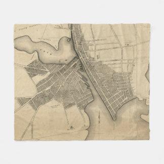 Vintage Map of Providence Rhode Island (1823) Fleece Blanket