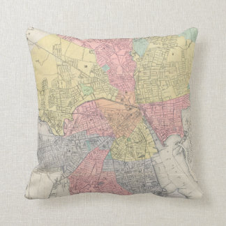 Vintage Map of Providence Rhode Island (1899) Throw Pillow
