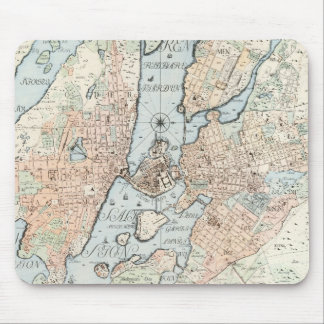 Vintage Map of Stockholm (1733) Mouse Pad