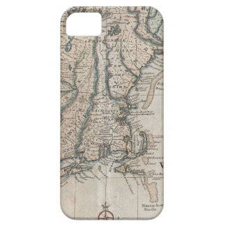 Vintage Map of The New England Coast (1747) iPhone 5 Covers