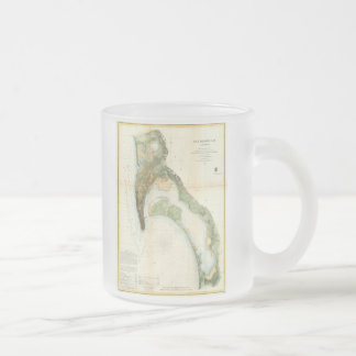 Vintage Map of The San Diego Bay (1857) Frosted Glass Coffee Mug