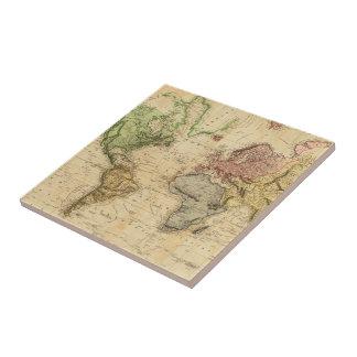 Vintage Map of The World (1831) Tile
