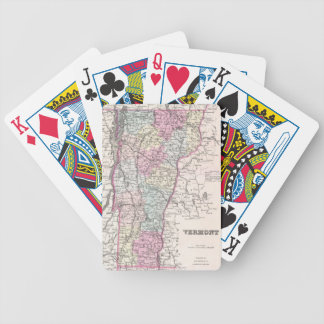 Vintage Map of Vermont (1855) Bicycle Playing Cards