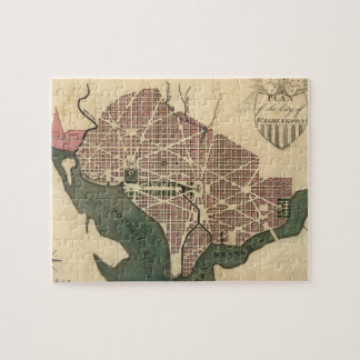 Vintage Map of Washington D.C. (1793) Jigsaw Puzzle