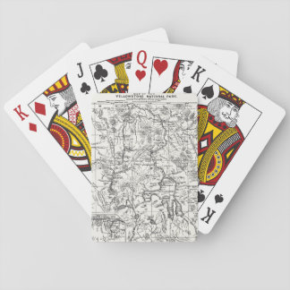 Vintage Map of Yellowstone National Park Playing Cards