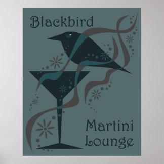 Vintage Martini Lounge Poster