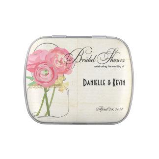 Vintage Mason Jar Wedding Shower Favor Candy Tin